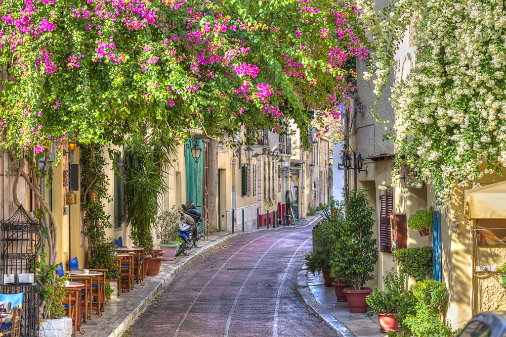 Stadsvandring i Plaka under konferensresa Aten Grekland