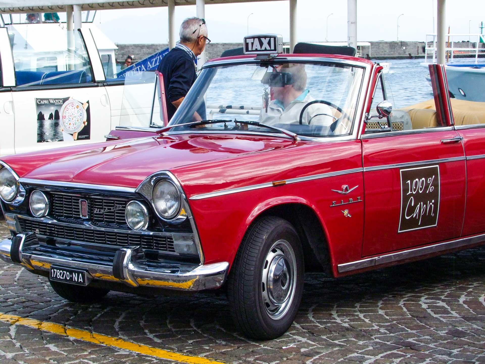 Gruppresa till Capri Italien med väntande taxibil