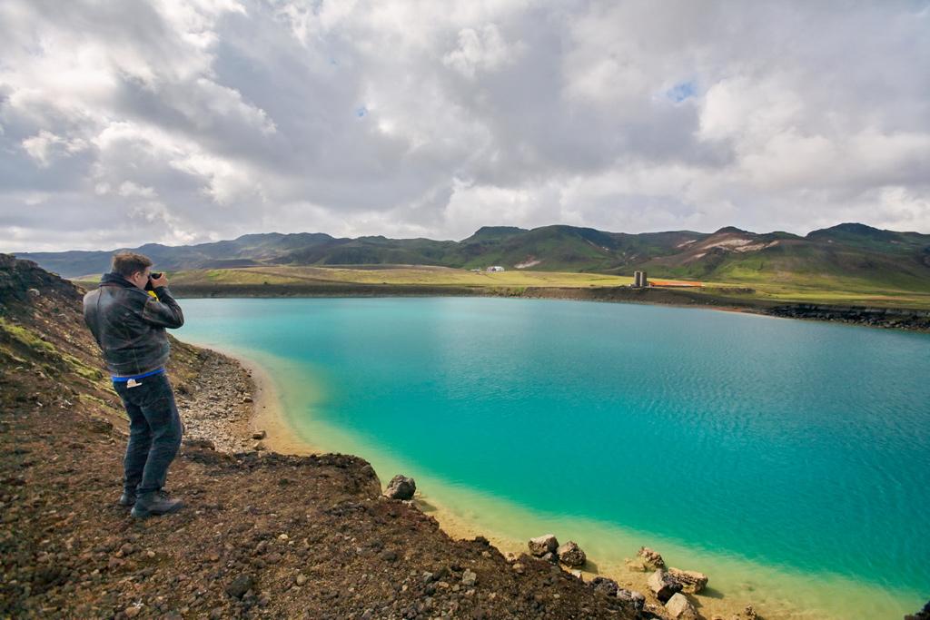 Utflykt till Grænavatn Island