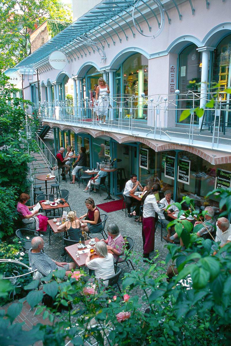 Kafékultur och möten i Berlin