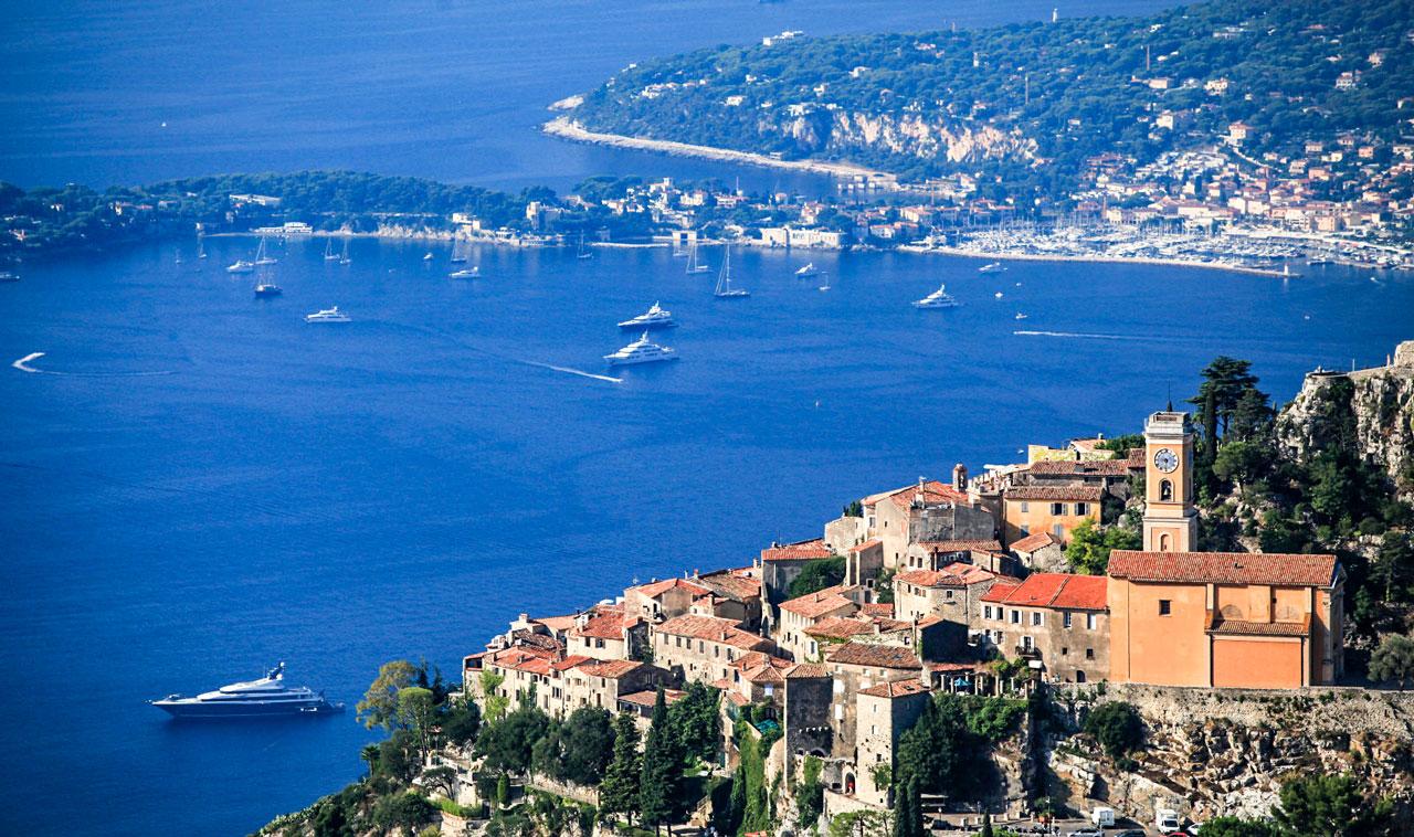 Utsikt Franska Rivieran