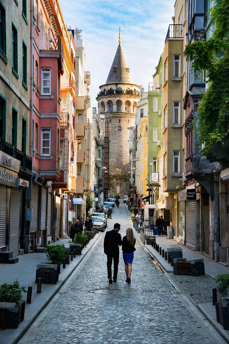 Stadsvandring under konferensresan till Istanbul Turkiet
