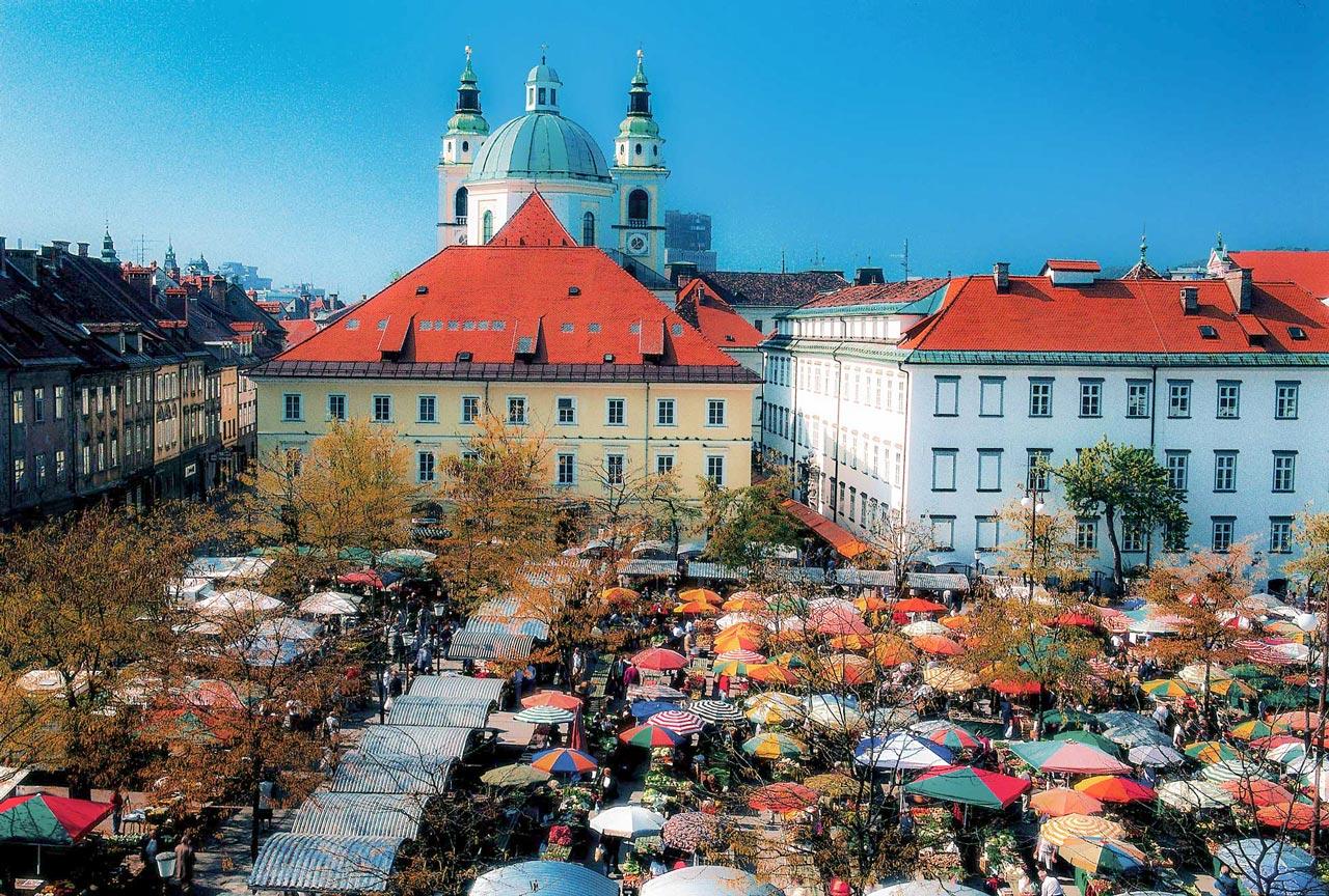 Grupp- och konferensresa Ljubljana Slovenien med marknaden