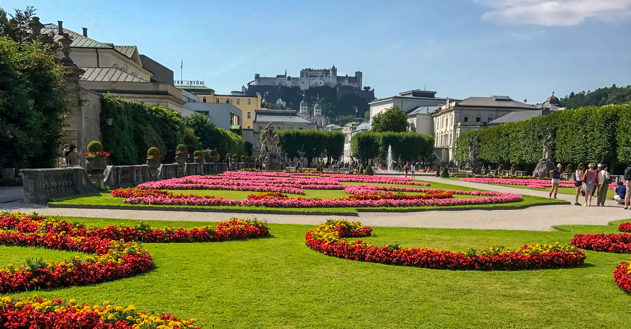 Stadsvandring i Salzburg under en grupp- och konferensresa till Österrike