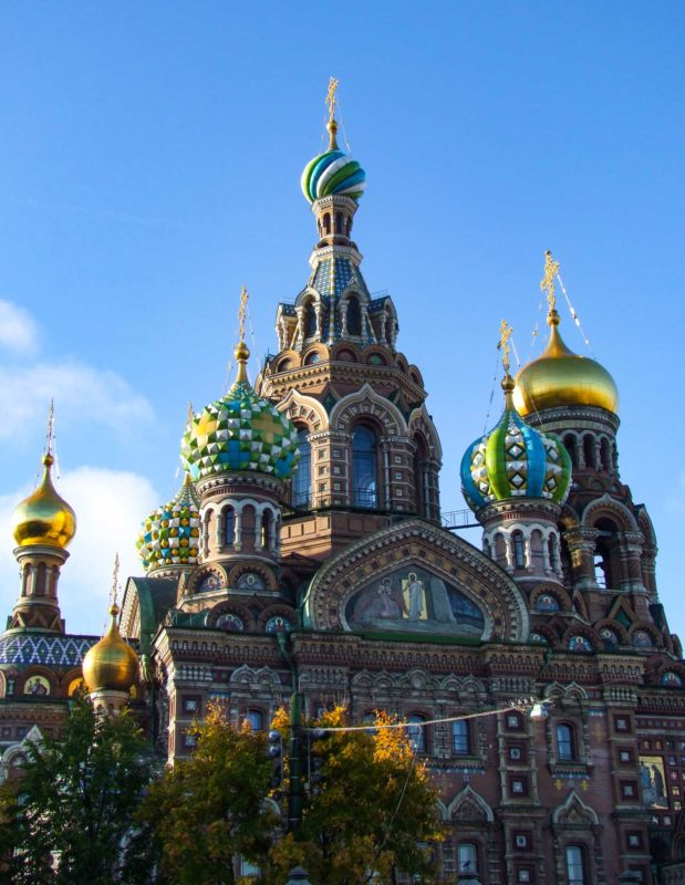 Stadsvandring i St Petersburg Kyrkan på blodet
